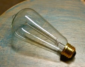 4 Pack: 60 Watt Marconi Style Light Bulbs, Vintage Edison Reproduction Clear Glass Bulb, Squirrel Cage Filament