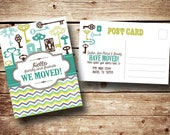 Printable We Moved - Moving Announcement Postcard, Front and Back