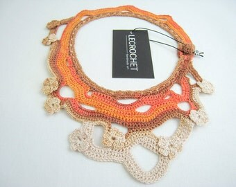Exclusive crochet necklace - fashion accessory