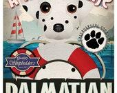 Dalmatian Sailing Company Original Art Print 11x14- Customize with Your Dog's Name
