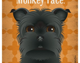 Affenpinscher Funny Dogs Original Art Print - Humorous Dog Breed Art -11x14- Funny Dog Poster - Dogs Incorporated