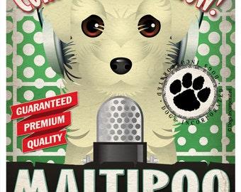 Maltipoo Studio Original Art Print - Custom Dog Breed Print - 11x14 - Personalize with Your Dog's Name