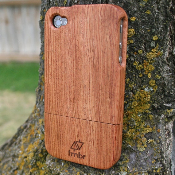 Handmade Quality Engraved Wood Wooden Bamboo iPhone 4 4s Case FREE SHIPPING in the US