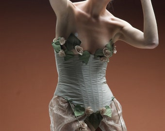 Haute-couture corset look evening or wedding top