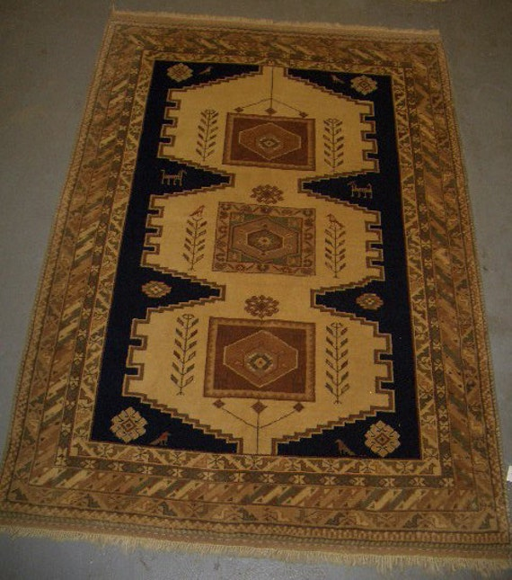 20% OFF SALE! - 1980s Hand-Knotted, Kazak Style, Romanian Rug