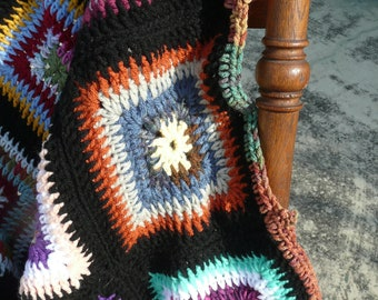 Fifty Shades of Color Crocheted Afghan
