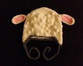 Cream Colored lamb hat