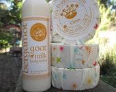 Gift Set: Goat milk body lotion in Bergamot and Citrus Scent Goat Milk soap