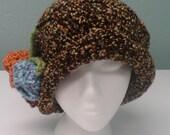 Downton Abbey crochet flapper hat womens large custom order for Maureen