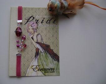 Bookmark vintage charm ( pink)