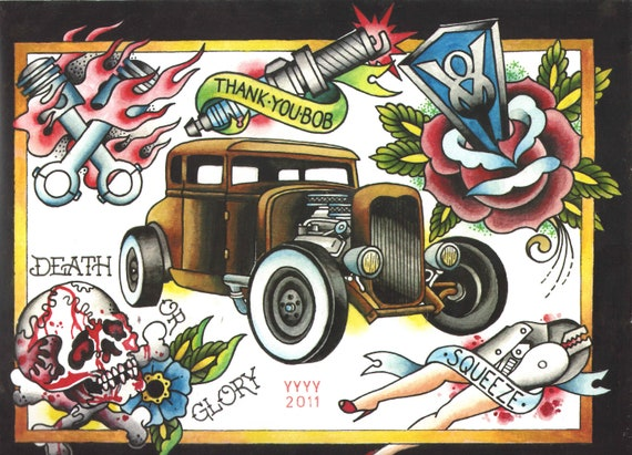 Items similar to hot rod flash sheet on Etsy
