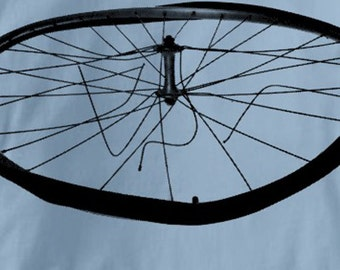 Bicycle T Shirt Busted Wheel Mountain Touring Cycling Tee Shirt Mens Womens Ladies Youth Kids