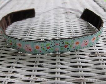 Girls Pink Owl Headband - Non slip Womens Headband