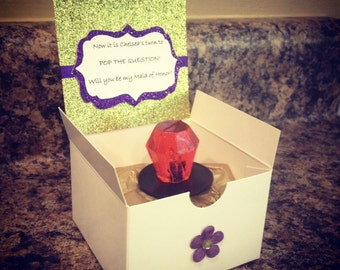Will You Be My Bridesmaid Box with Ring Pop