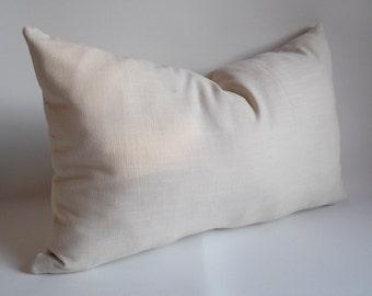 1 pcs / Linen Natural Lumbar pillow  Decorative pillow 14''x22'' inches Pillow cower