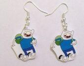 Adventure Time Finn Earrings- Adventure Time Earrings