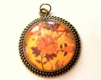 Tree of Life Floral Vintage Style Bronze Pendant