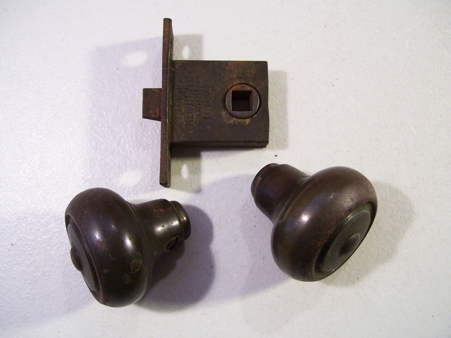1920 39 s sargent door knob latch assembly antique for 1920 door knobs