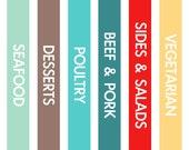 Magnetic Menu Board Template Kit - Original Color Scheme – 13 Digital Files - Instant Download