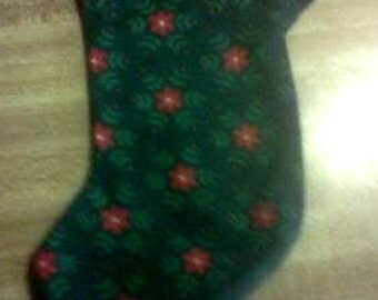 6 - Inch Holiday Print Stocking - Floral