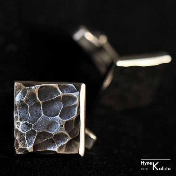 Unique mens cufflinks Custom Cufflinks Handmade Metal
