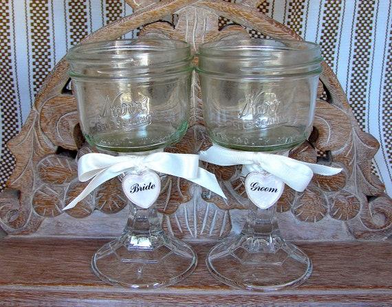 handmade rustic mason jar wide mouth wine by glassactsupply. Black Bedroom Furniture Sets. Home Design Ideas