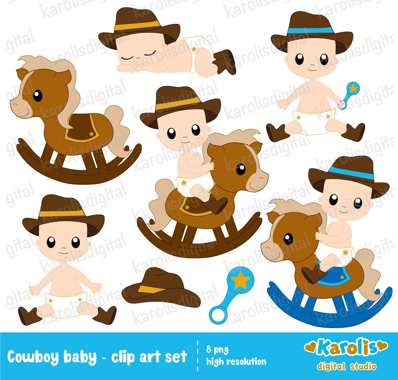 Cowboy Baby Shower Clipart Pixshark