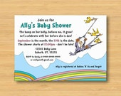 Oh The Places You'll Go Baby Shower Invitation - Printable - 5x7 Dr Seuss
