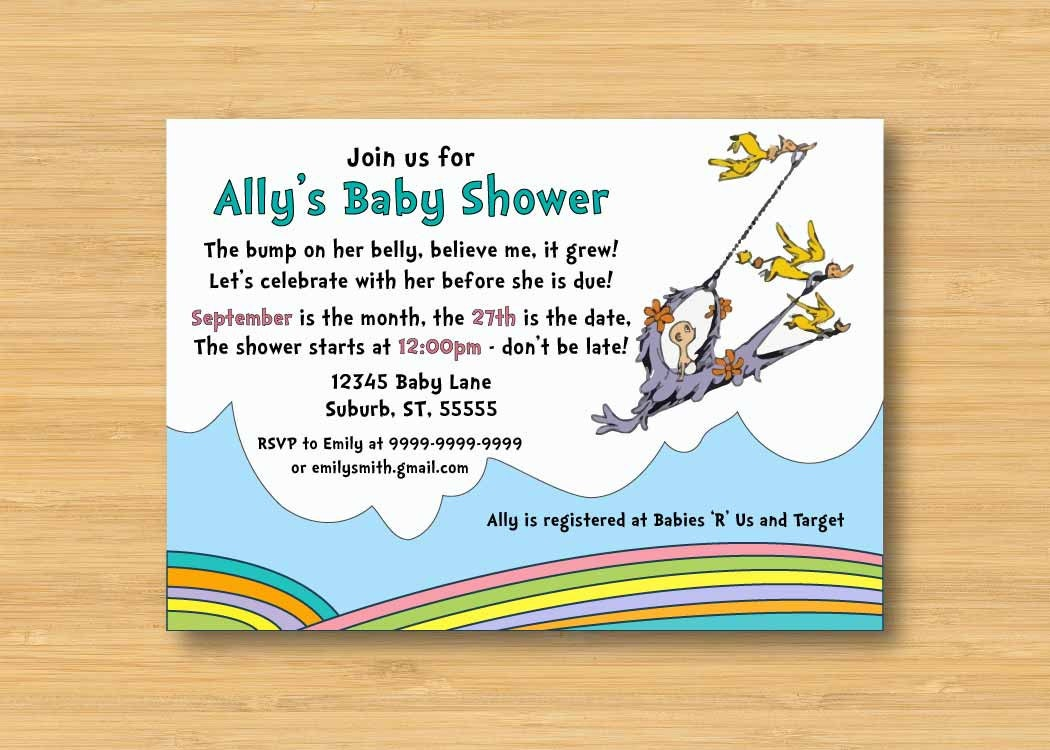 oh the places you 39 ll go baby shower invitation printable