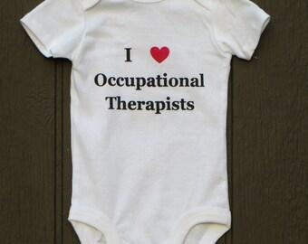 I heart Occupational Therapists bodysuit ot