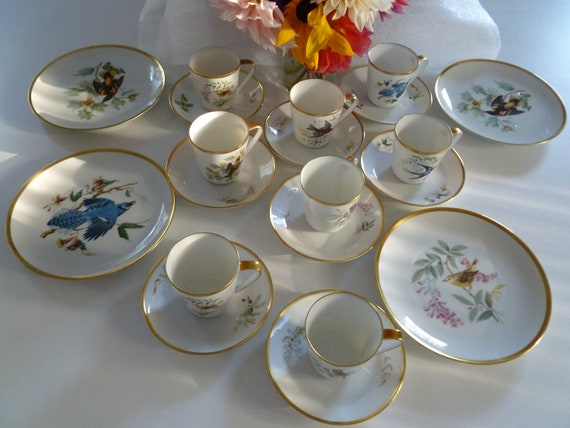 Audubon china set of 20 pieces
