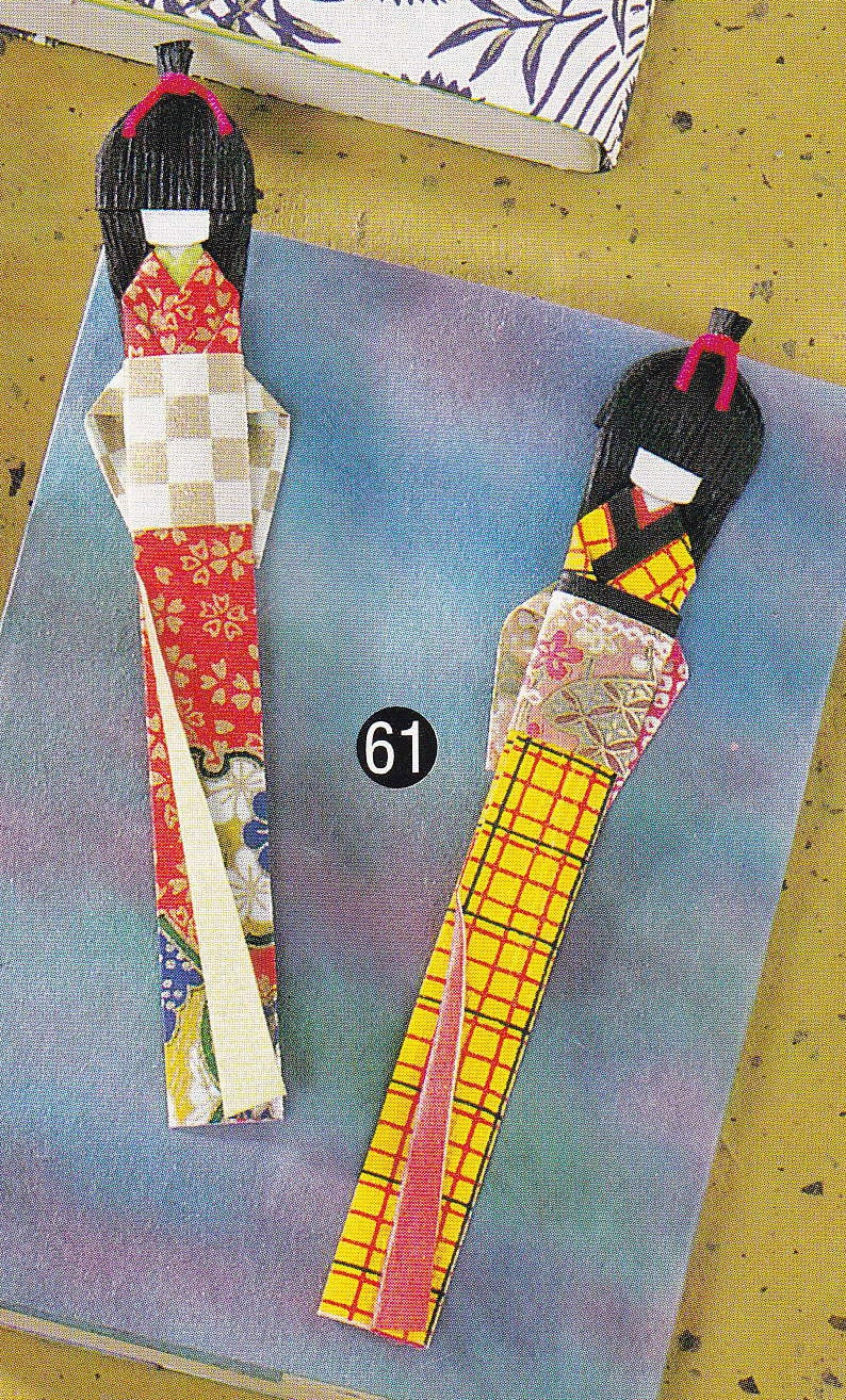 Washi Origami Paper Doll and Bookmark Japanese by DollyAndPaws - photo#17