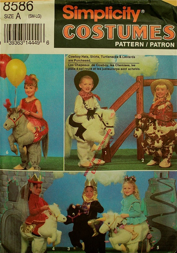 Child's Horse Costume Simplicity Pattern 8586 Uncut  Size 2 to 6X  Chest  21 to 25.5""