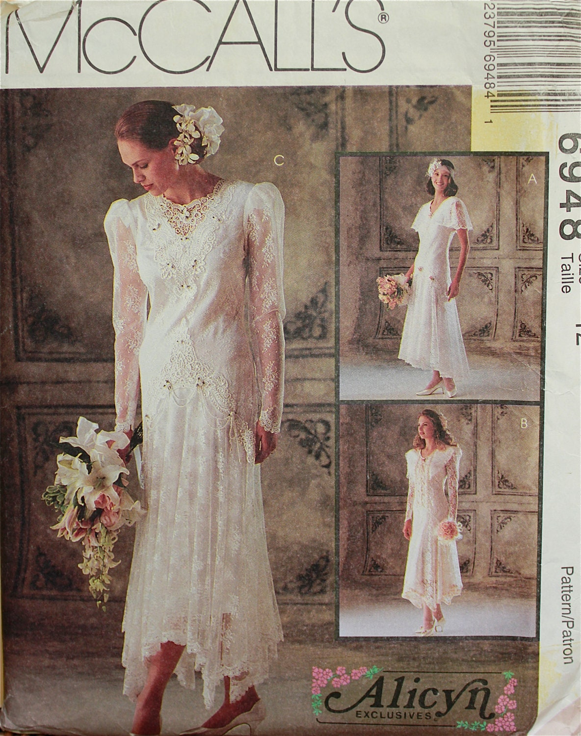 1990s Designer Dress Lace Flapper 1920s Style by Alicyn