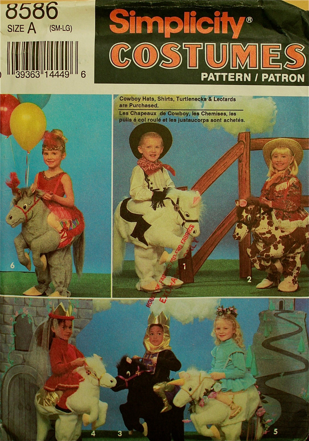 child u0026 39 s horse costume simplicity pattern 8586 by