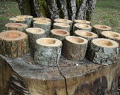 "24 Rustic 2"" wood candle holders sticks for votive candles, weddings, cabins, decoration, decor, natural tree branch,"