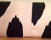 100% Canvas COTTON, Black and White Picnic Blanket NEW 54 x 36 Free US Ship