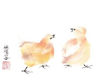 Talking Chicks 8x10 print