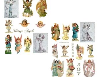 Vintage Angels Digital Collage Set
