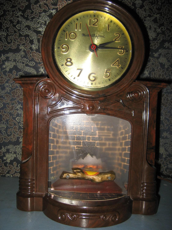 Mastercrafters Electric Fireplace Mantel Clock Model 272