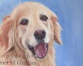 Happy (Golden Retriever)  / Dog / Animal / SFA - Original hand painted animal  oil painting by Australian Artist Janet Graham