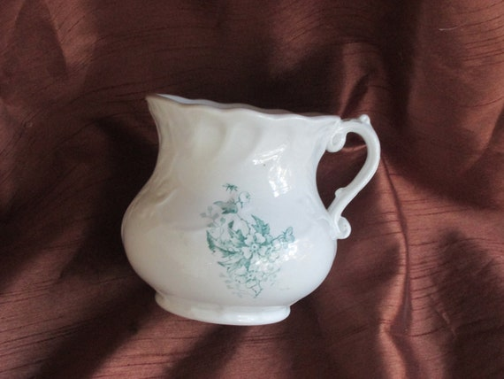 Clearanc Sale - Antique Porcelain Creamer from the late 1800's W.E.P.CO. West End Pottery Co. Liverpool,Ohio.