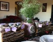 WEDDING SHOWER FAVORS. 30 Organic Sugar Body Scrubs in 4 oz. Glass Mason Jars wrapped w burlap and twine. Burlap and Lace Bridal