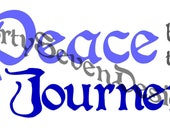 Peace be the Journey Printable Quote