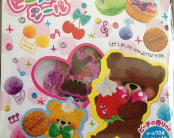 Japan Mind Wave kawaii MELODY BEAR stickers sack