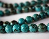 Turquoise Howlite Round Smooth 10mm Bead Strand