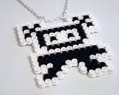 Curly from Wipeout Hama Bead Necklace