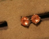 oregon sunstone earrings set in sterling silver