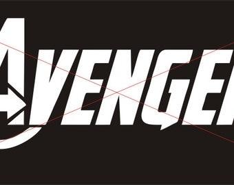Avengers Logo Vinyl Decal / Sticker - Version 2