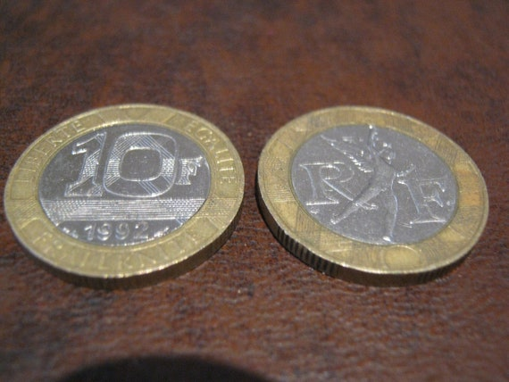 French Coins - Two 10 Franc Coins